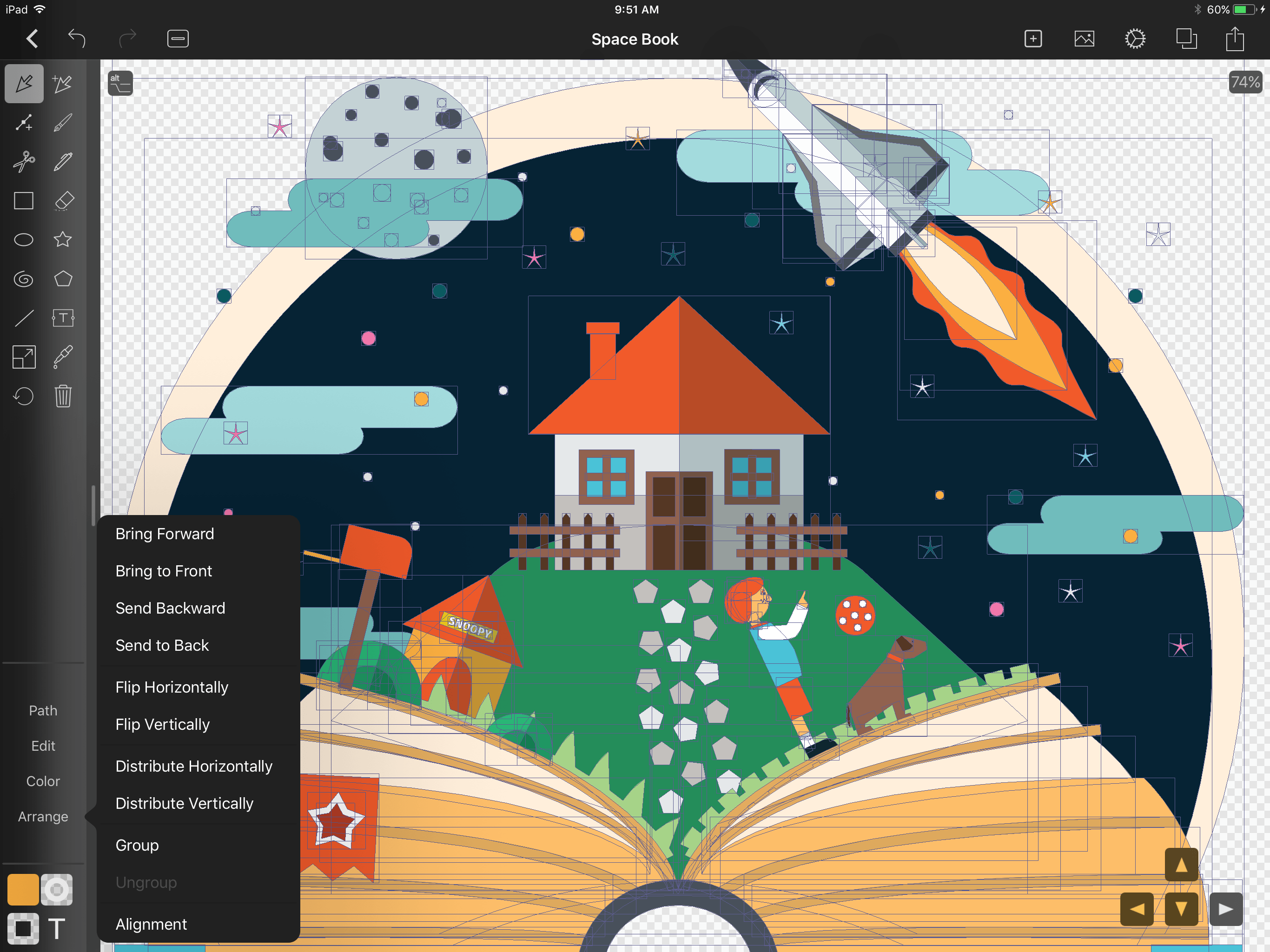 Vectornator Pro app becomes FREE for a limited time