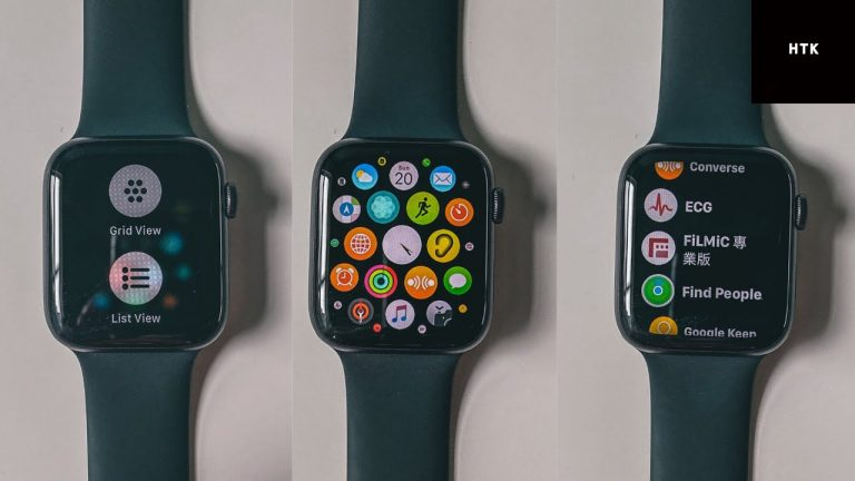 Video of how we can place the icons of the Apple Watch