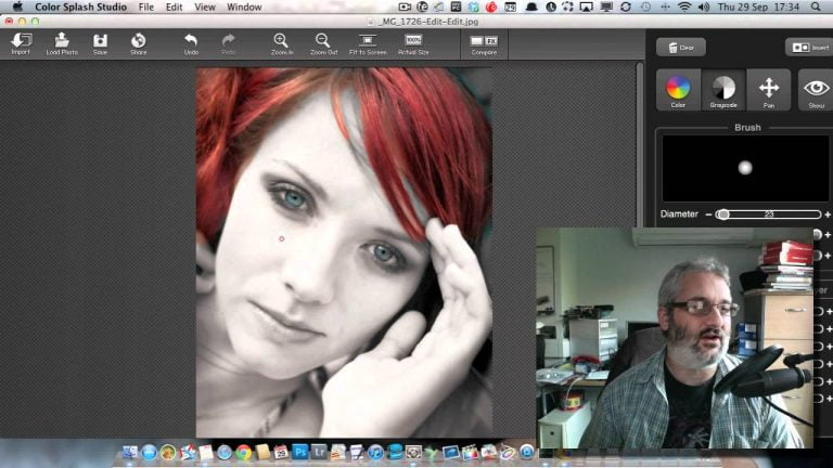 We tried Color Splash Studio, an application for coloring part of a photograph