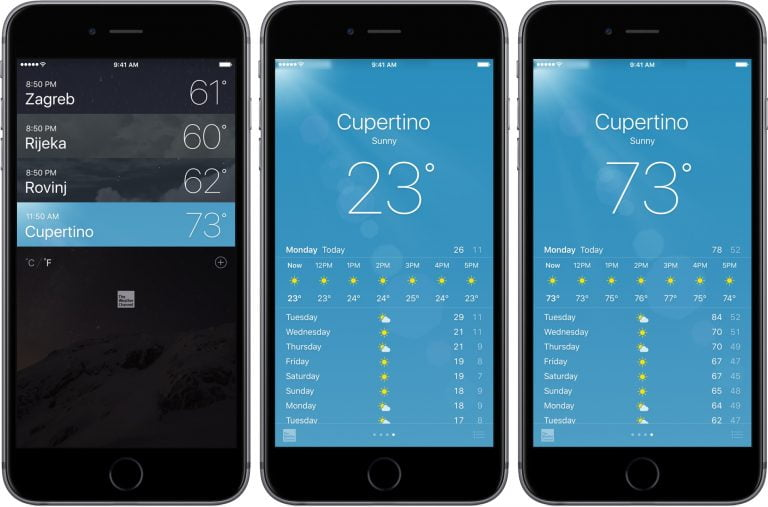 Weather on your iPhone with Week Weather