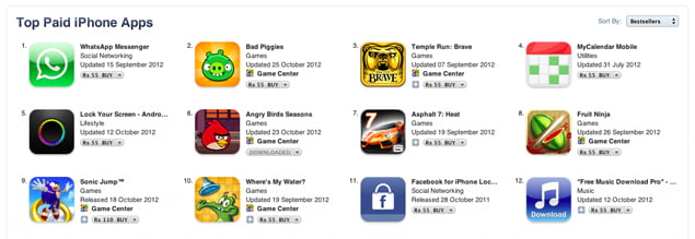 2012 on the App Store