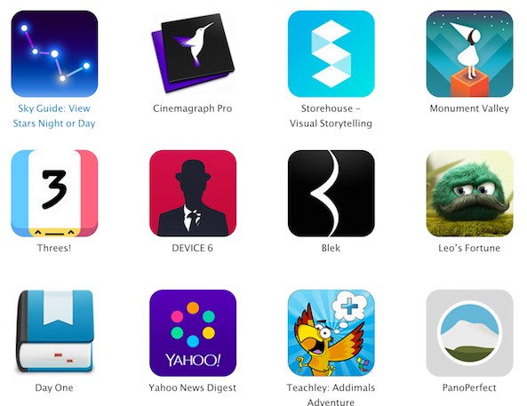 Apple Announces Design Awards 2014 Winners at WWDC
