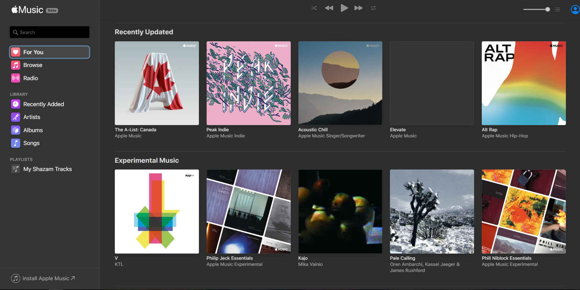 Apple Music updates with support for Chromebook