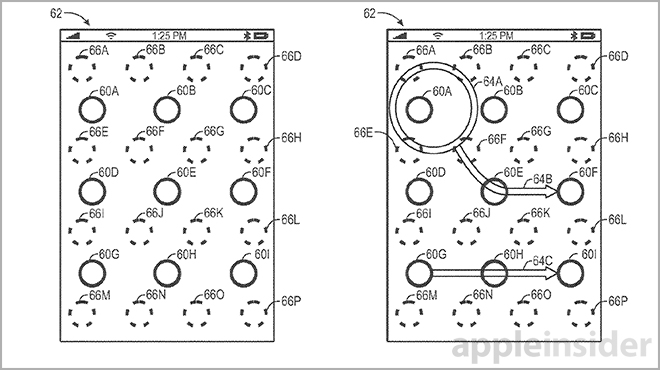 Apple Patents Gestures to Unlock iOS Applications and Features