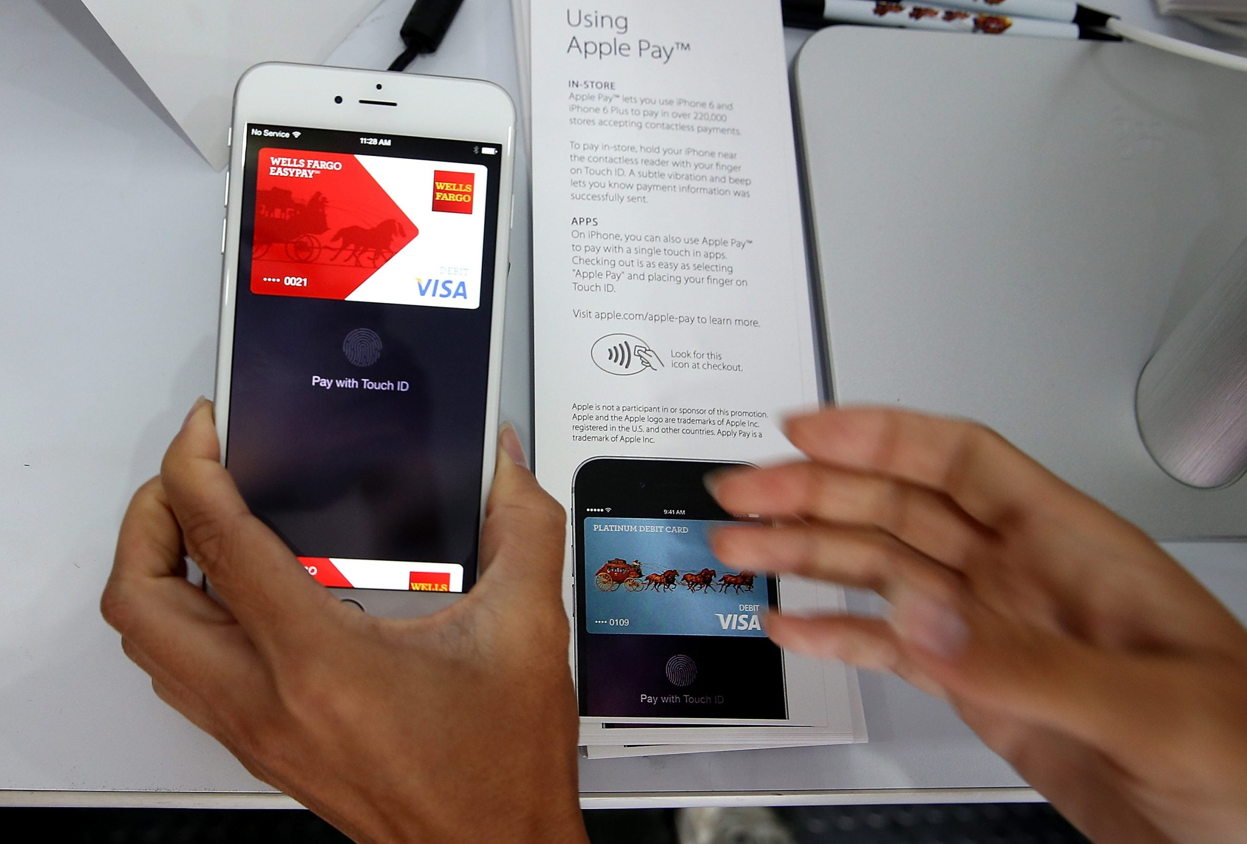Apple will earn 0.15% for every transaction made with Apple Pay