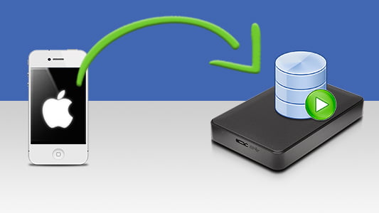 Backing up your iPhone to an external hard drive