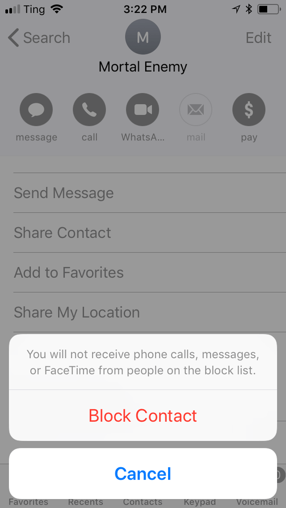 Blocking Messages in iMessage
