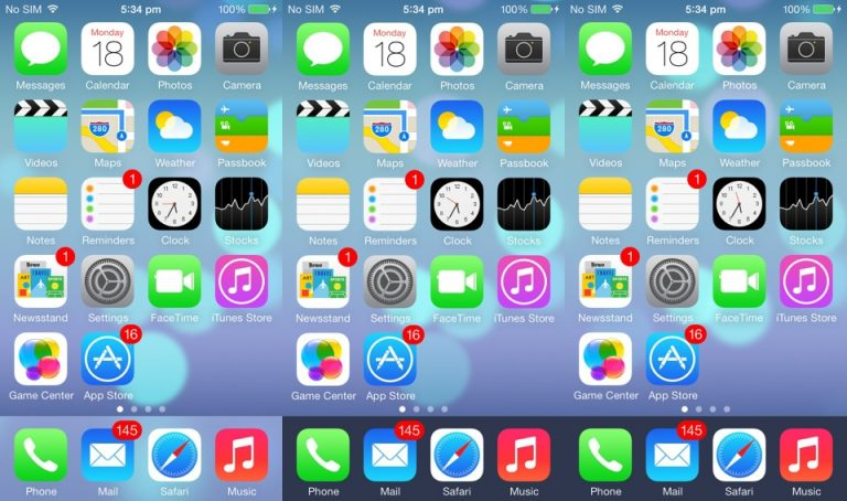 Changing the Color of the Dock and the Appearance of iOS 7 on iPad