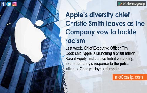 Christie Smith, head of diversity at Apple, leaves the company