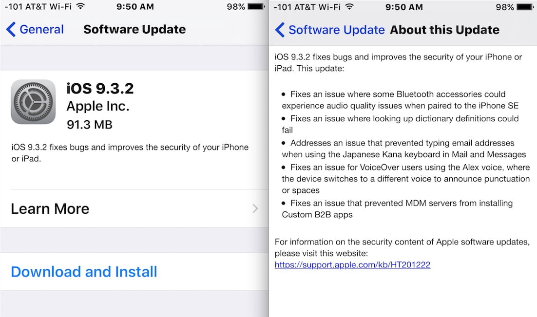 Download iOS 9.3.4 for Security Troubleshooting