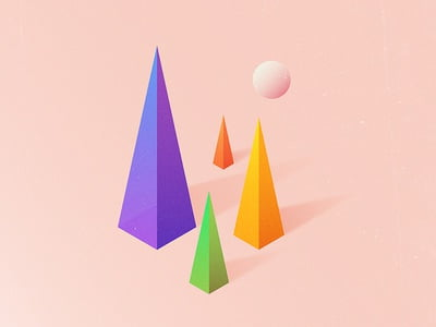 Enjoy these 3D geometric wallpapers for iPhone