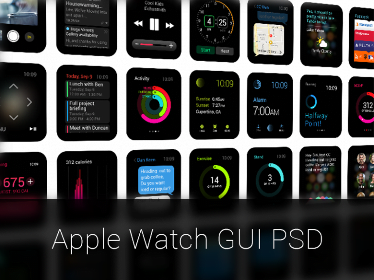 Fantastic Wallpapers Inspired by the Apple Watch