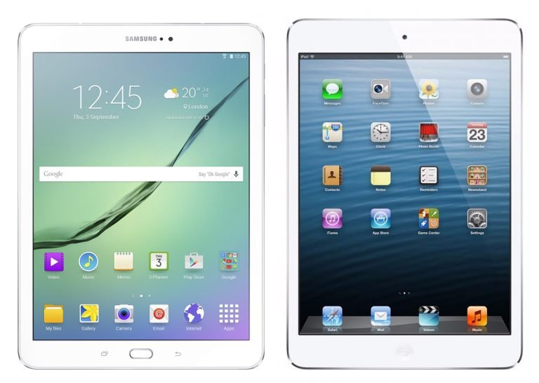 Galaxy Tab S vs. iPad Air in an Ad