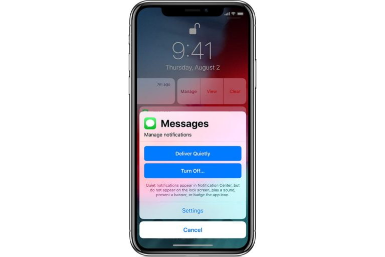 Going to the Control Center and Notification Screen on iPhone X