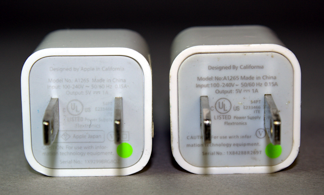 How to Distinguish an Original iPhone or iPad Charger from one that is not