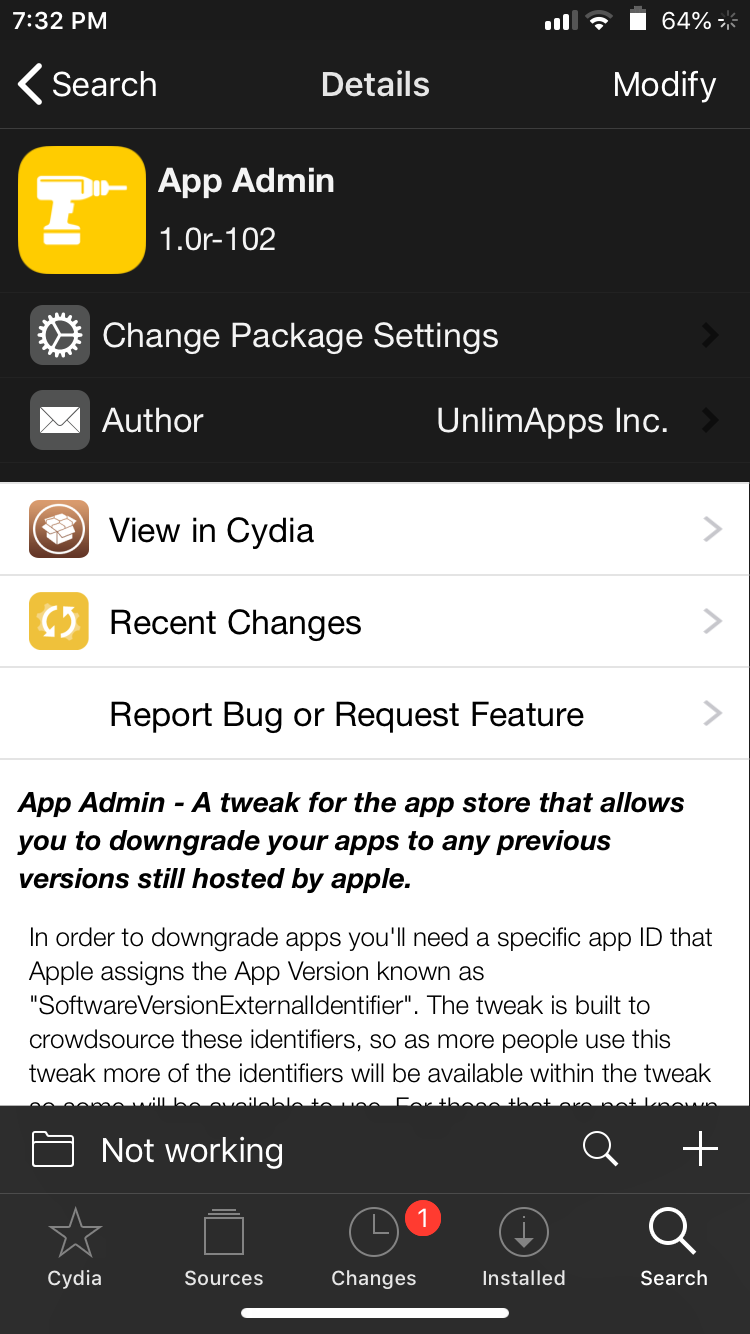 How to Downgrade to a Cydia Tweak or App