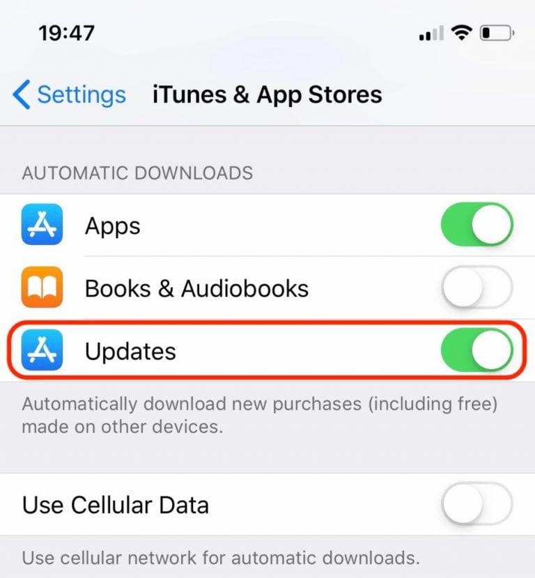 How to Enable Automatic Downloads on iPad