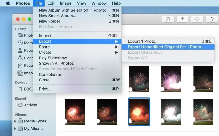 How to Export Photo Images to Mac in their original format