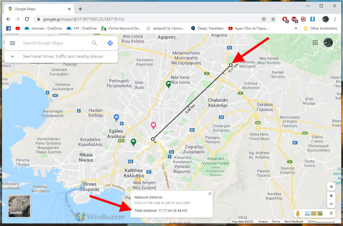 How to measure distances on Google Maps with your iPhone