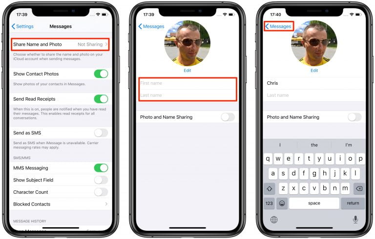 How to Personalize Your Name and Photo in iMessage with iOS 13 and iPadOS