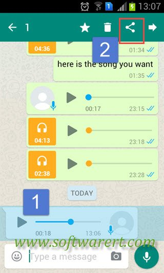 How to save a WhatsApp chat and email it