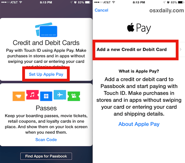 How to Set Up Apple Pay on iPhone 6 and 6 Plus with iOS 8.1
