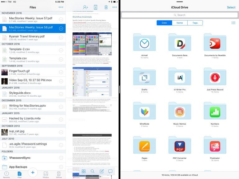 Manage files and folders on your iPad