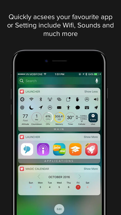 Open Apps, Call and More from the Notification Center with Launcher