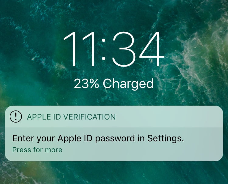 Phishing Attack on Apple ID Users Detected