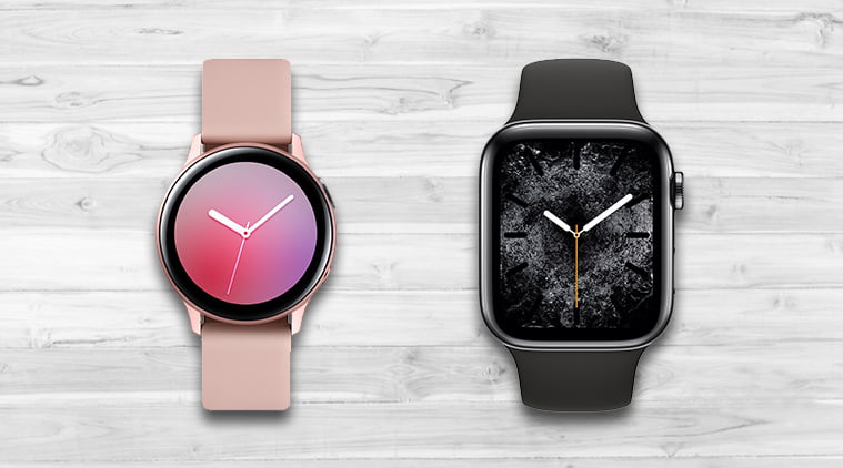 Pictures of an Apple Watch with a Circular Shape appear