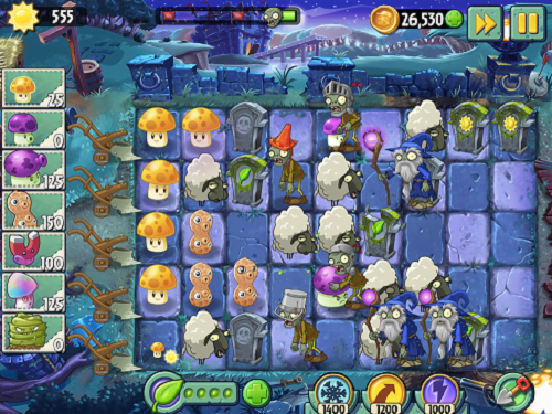 Plants vs Zombies 2 Dark Ages Update for iPad and iPhone
