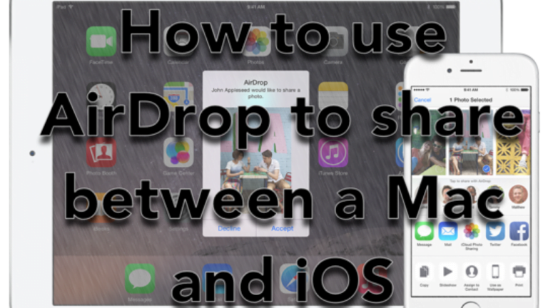 Quickly share files between your iPhone, iPad, iPod or Mac with AirDrop