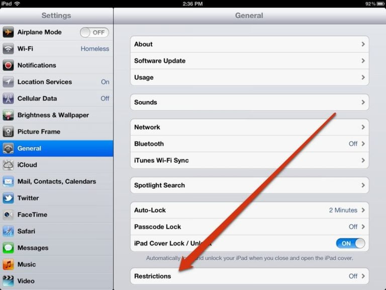Setting Up Your iPad's Parental Controls