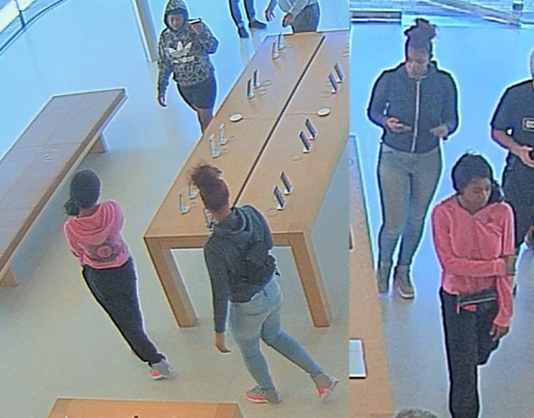 The latest robbery at an Apple store has been recorded on video