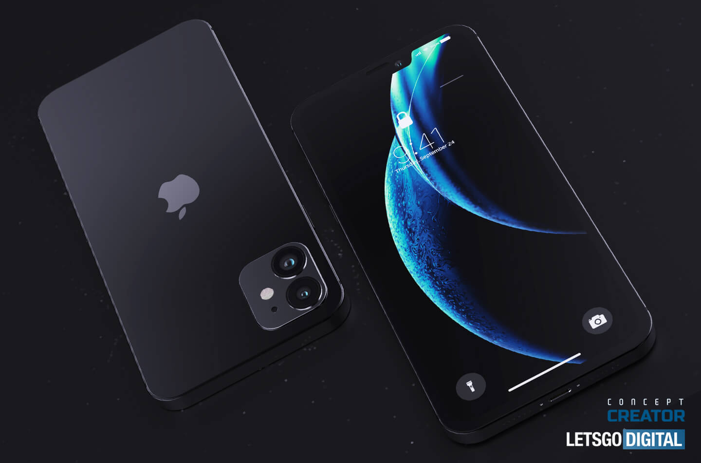 This concept brings us an iPhone 12 without notch and with a rear screen