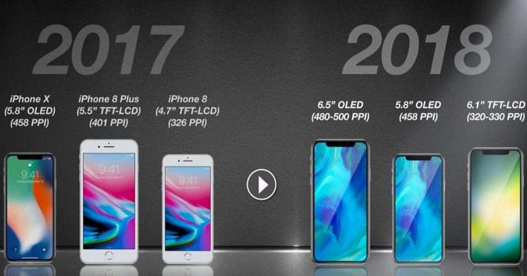 This great render shows iPhone SE 2, iPhone X and iPhone X Plus from 2018