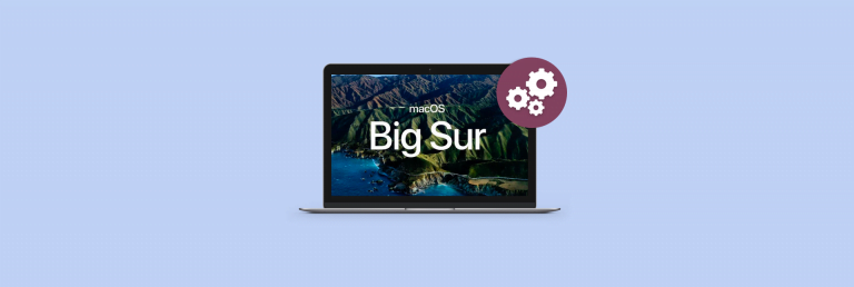 this is macOS 11 Big Sur
