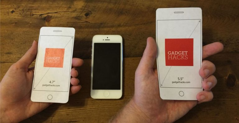 Using iPhone 6 and iPhone 6 Plus with One Hand