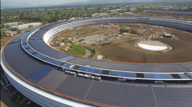 A complete tour of the entire Apple Campus 2, in drone view and 4K