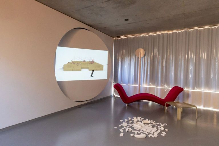 a video appears with unpublished views of its interior