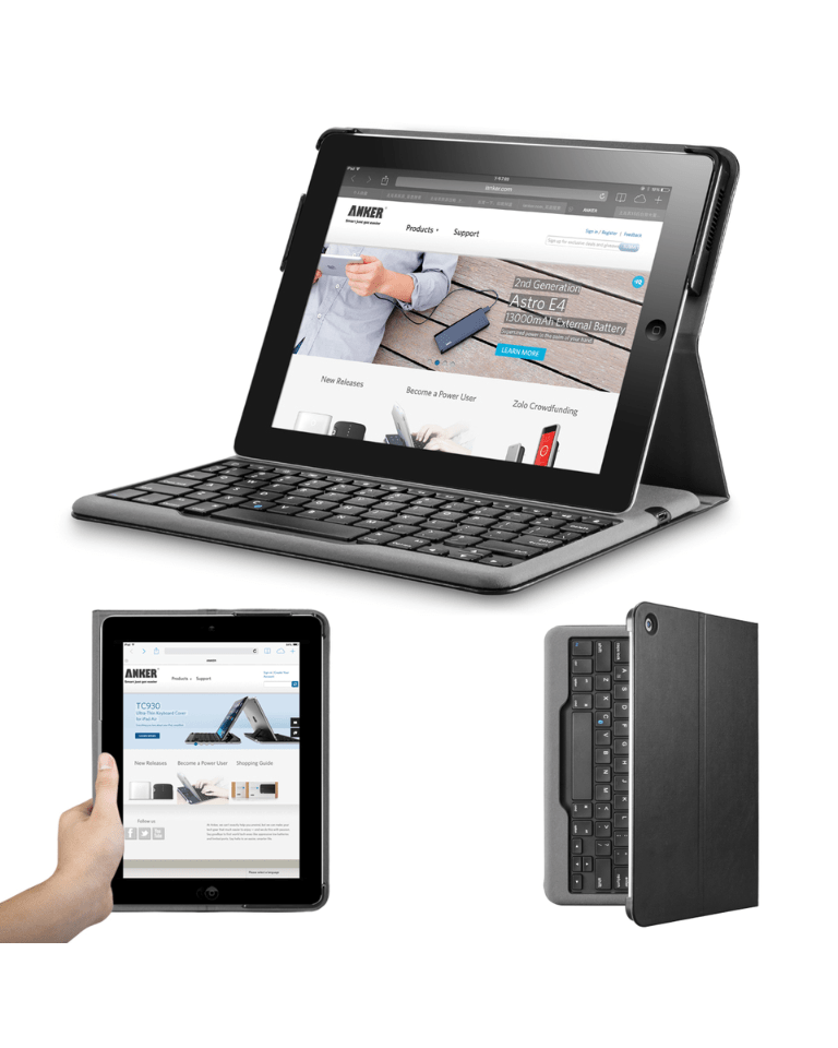 An all-in-one Bluetooth keyboard and iPad 2 case