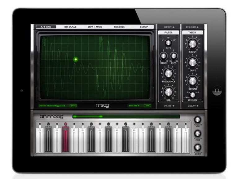 Animoog, polyphonic synthesizer for iPad
