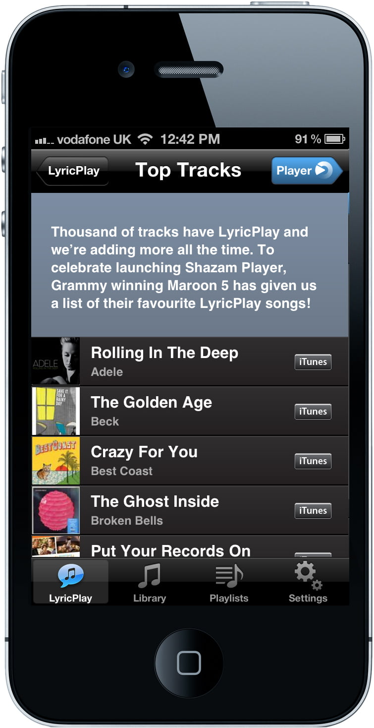 Apple demonstrates the usefulness of Shazam to position songs at number one