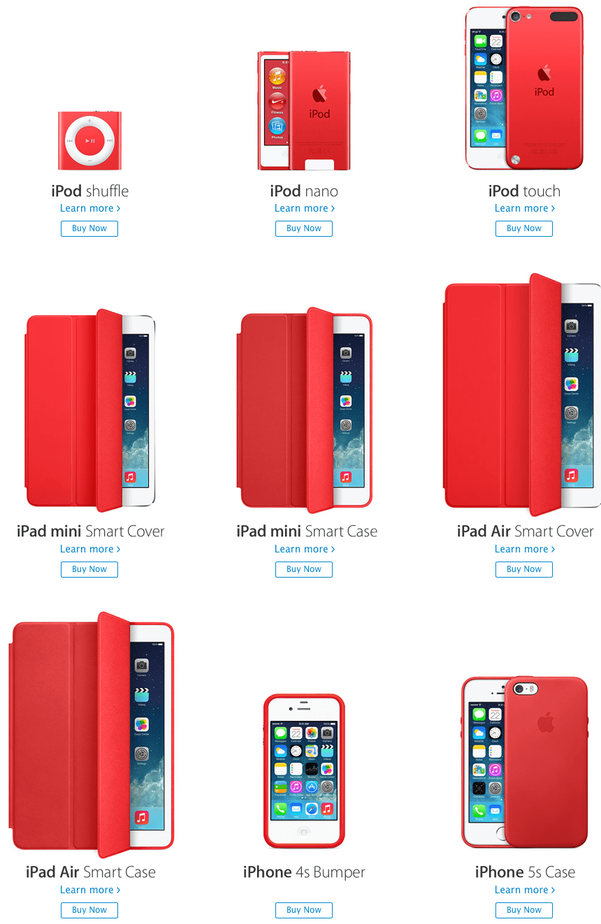 Apple launches the RED bumper (PRODUCT) for iPhone 4 and iPhone 4S