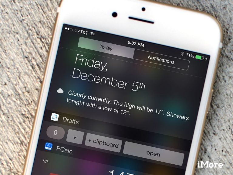 Apple removes widgets-calculators from the iOS 8 notification center