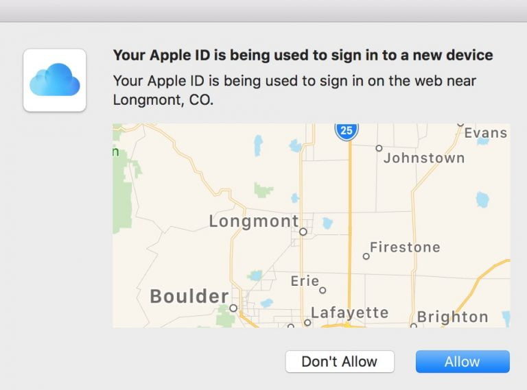 Apple will notify us by mail each time we log into (or enter) our iCloud account via the web