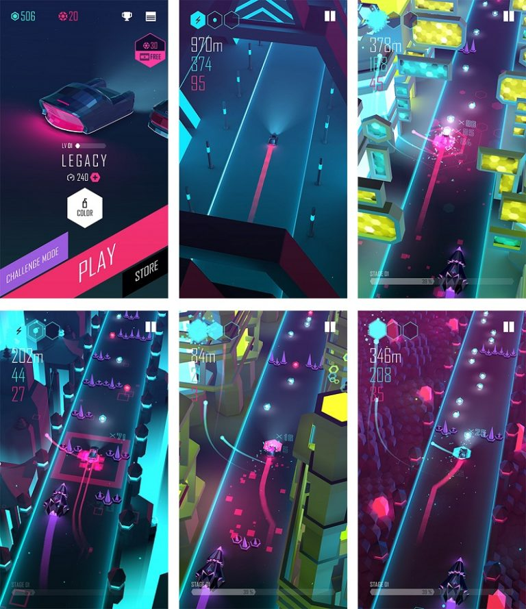 Beat racer, a mobile game that teaches you to drive to the beat