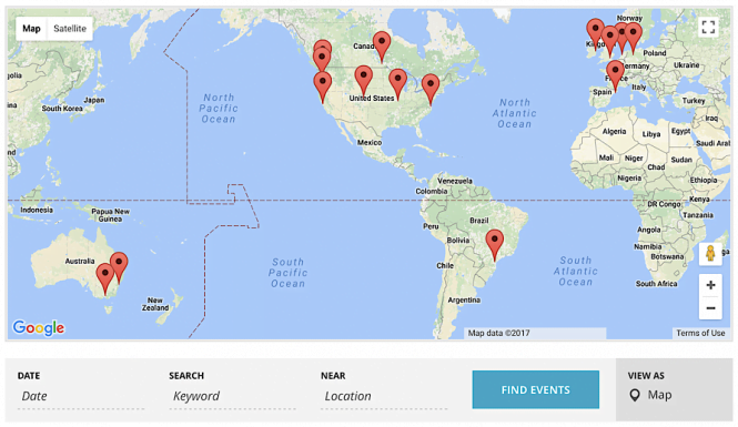 Calendar: location and events