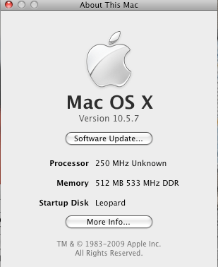 Does Mac OS X 10.5.7 improve the battery life of the Hackintosh?