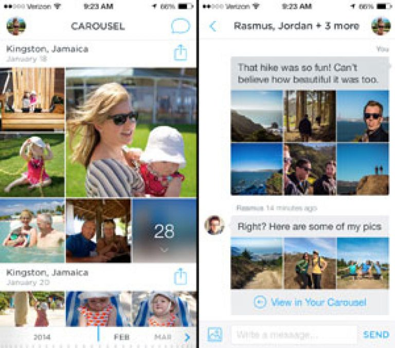 Dropbox's Carousel application makes its debut on iPad and Web